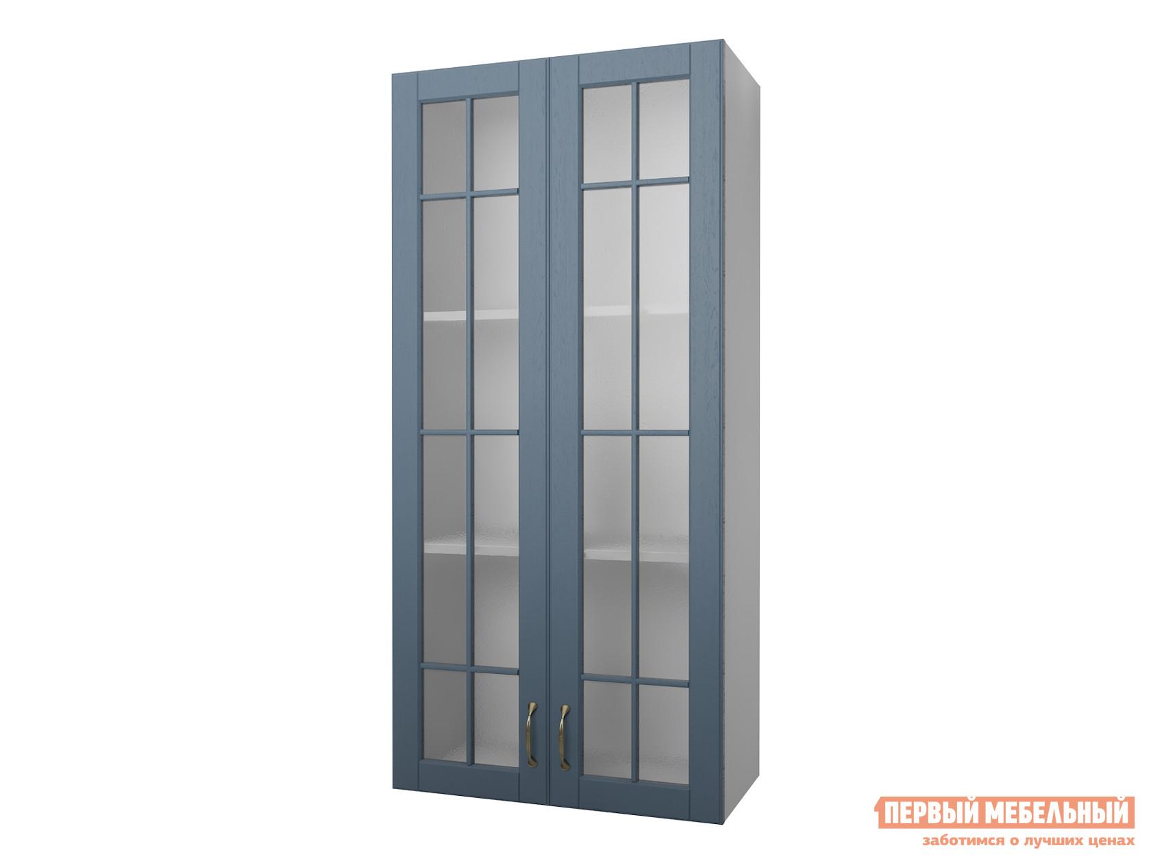 Кухонный модуль Первый Мебельный Полупенал навесной Н=130 см 2 двери со стеклом 60 см Палермо