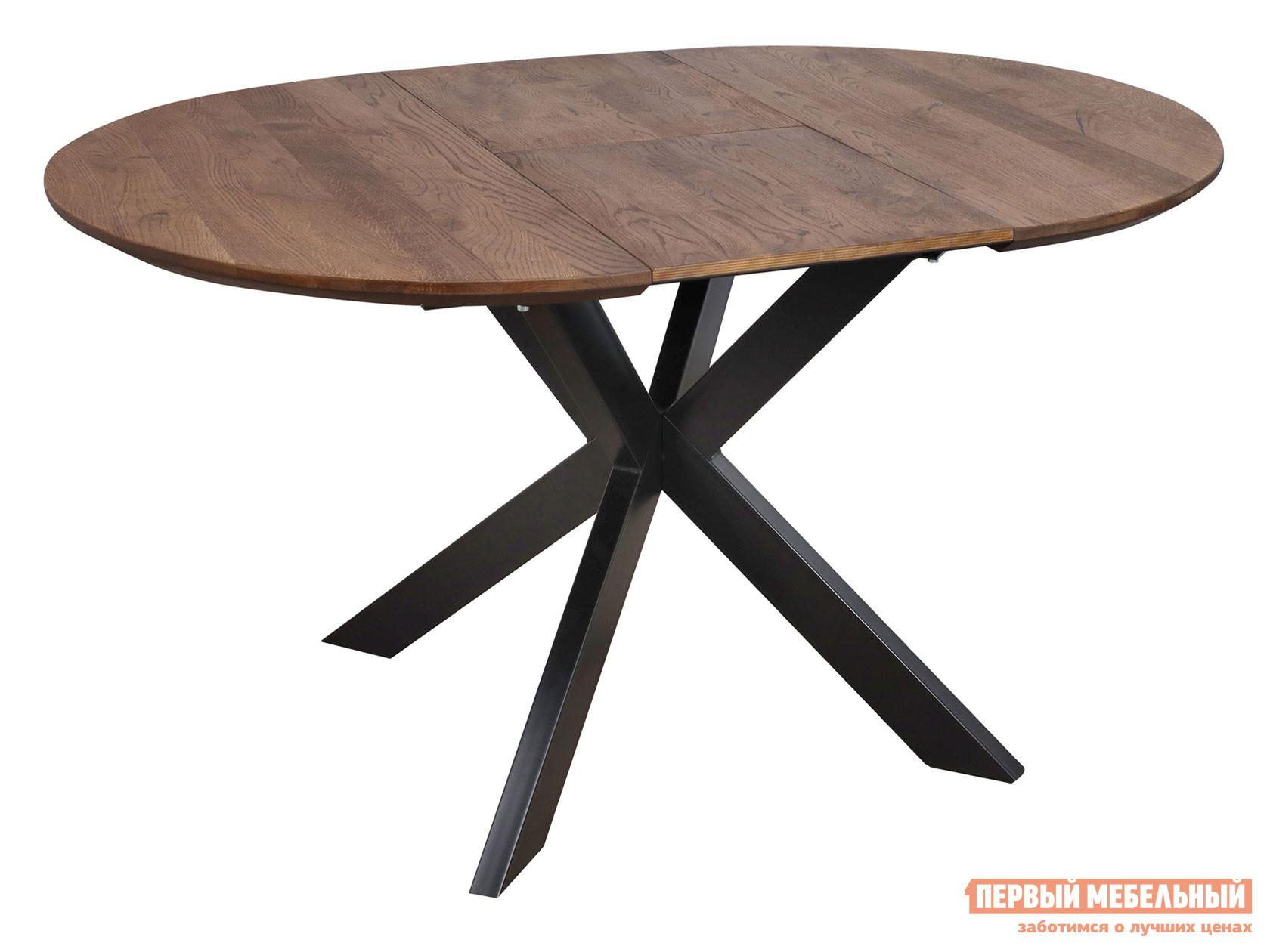 Кухонный стол  РАУНД Дуб мореный / Черный, металл Базистрейд 138271