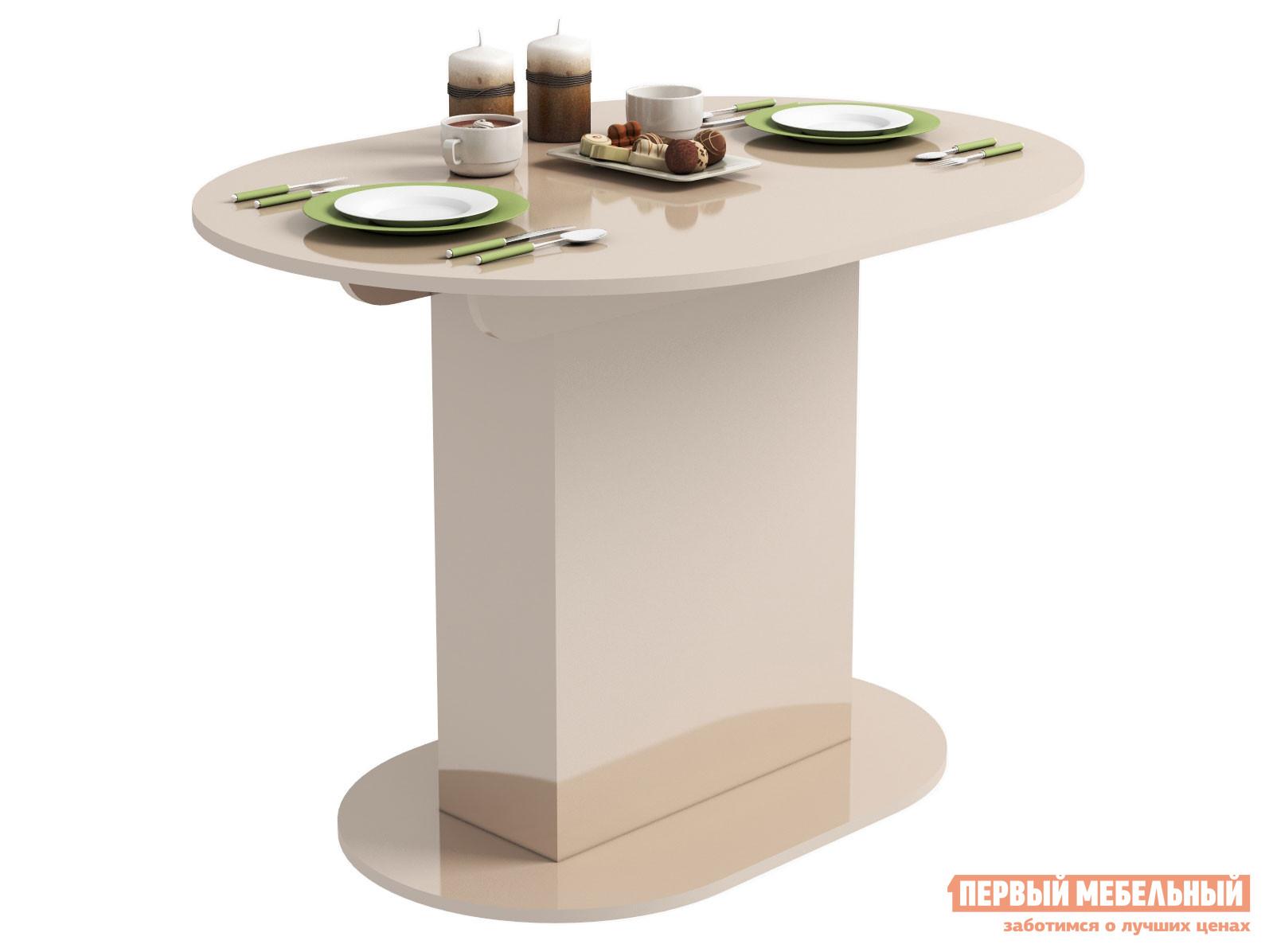 Кухонный стол Стол обеденный Бергамо 2 Бежевый глянец фото