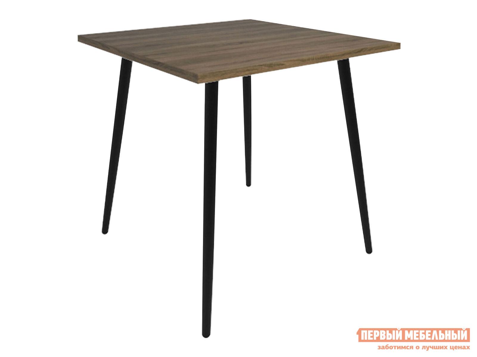Кухонный стол  Бруно Дуб Кантри / Черный муар, металл Мебвилл 124114