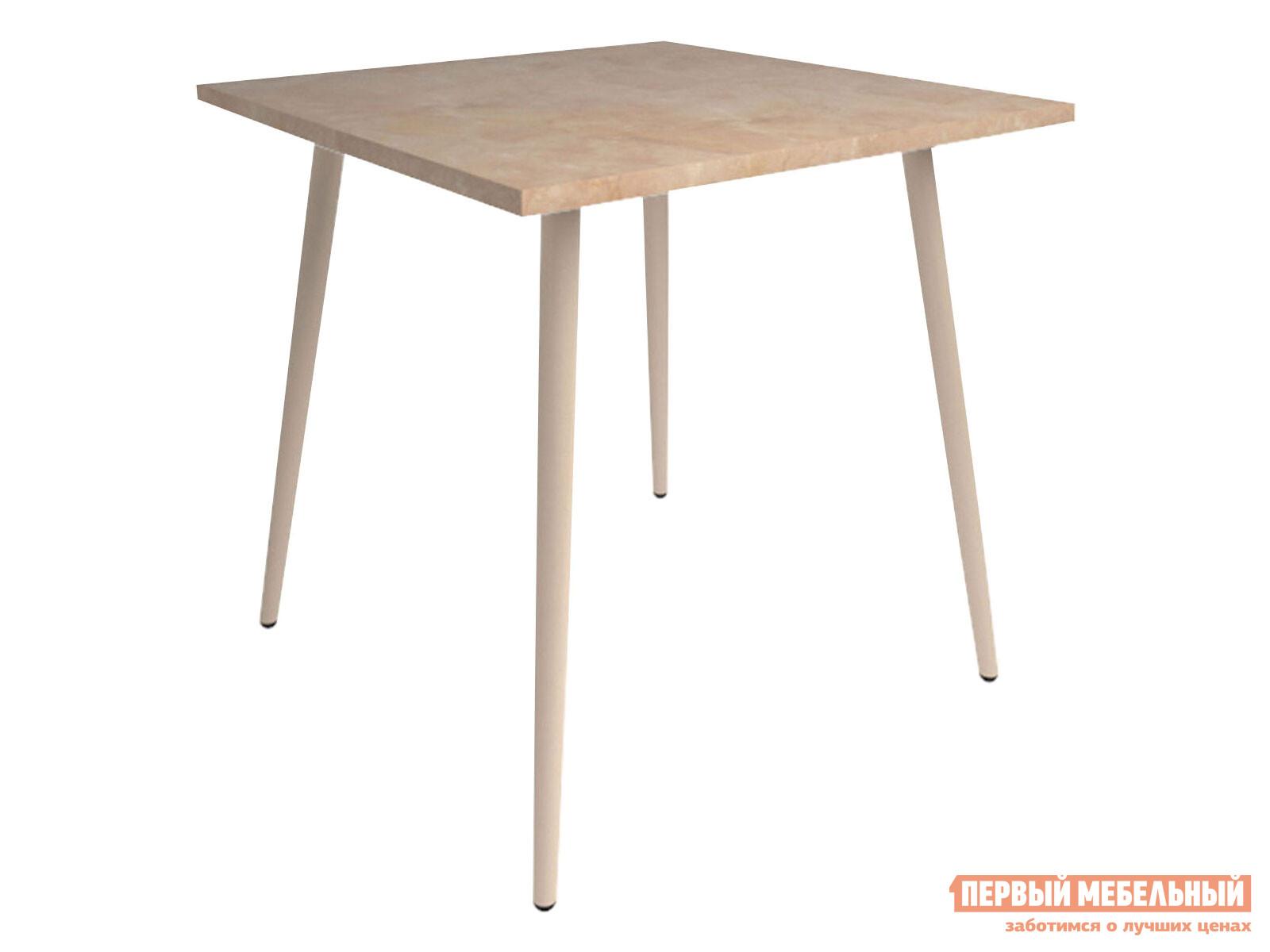 Кухонный стол  Бруно Валенсия / Серо-бежевый, металл Мебвилл 124112