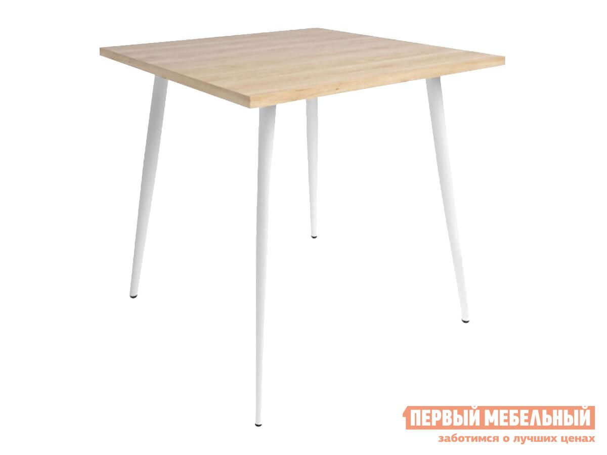 Кухонный стол  Бруно Дуб мадуро / Белый, металл Мебвилл 128206