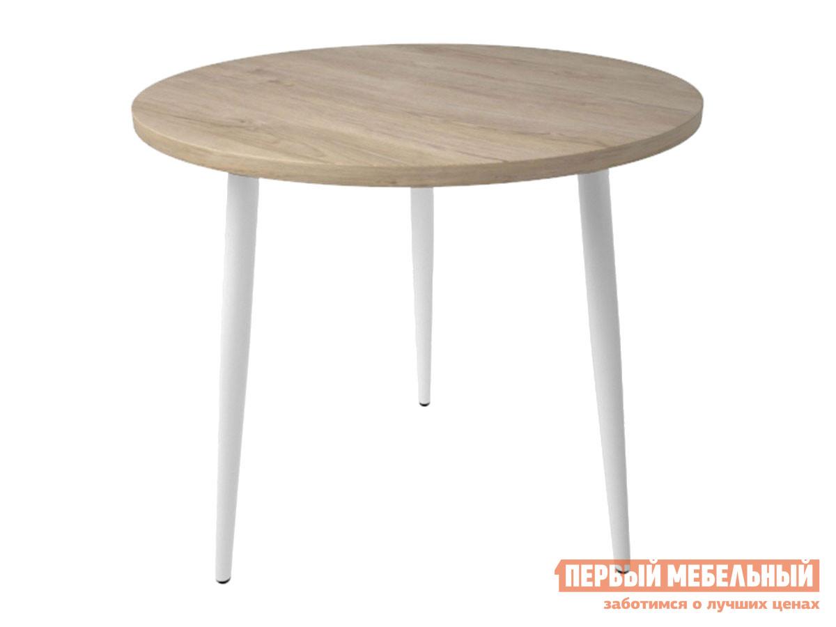 Кухонный стол  Брайт Дуб мадуро / Белый, металл Мебвилл 128205