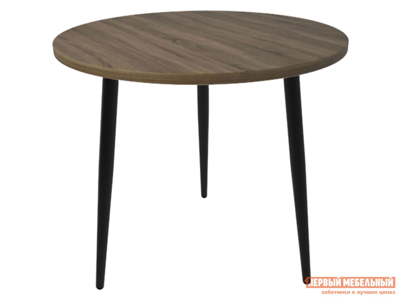 Кухонный стол  Брайт Дуб Кантри / Черный муар, металл Мебвилл 124117