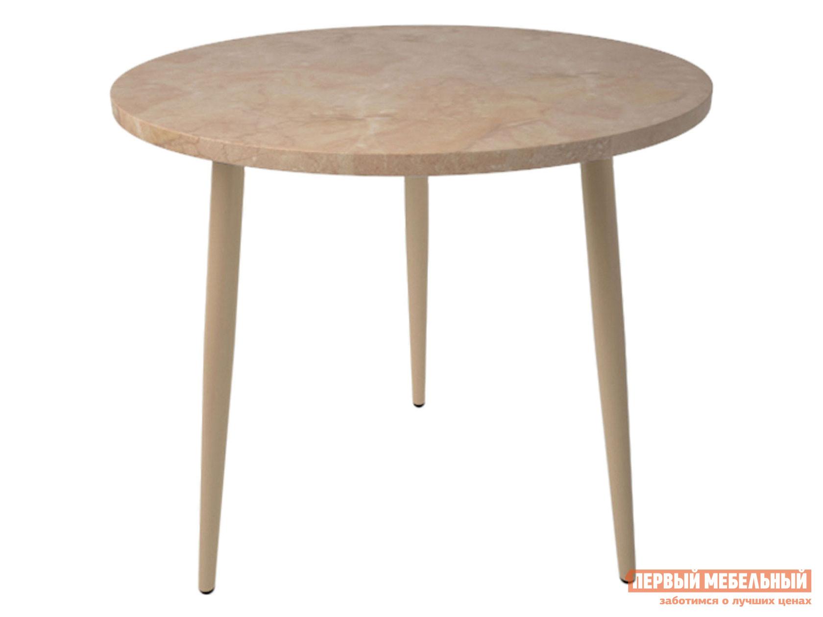 Кухонный стол  Брайт Валенсия / Серо-бежевый, металл Мебвилл 124115