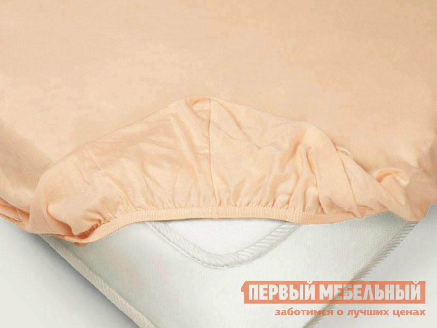 Фото - Простыня Первый Мебельный Простыня на резинке «Поплин» персиковый простыня на резинке 140х200 см поплин браво м507 12 04