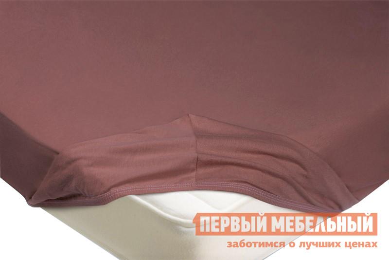 Простыня  Простыня на резинке трикотажная Лиловый, 1800 Х 2000  Х 200 мм