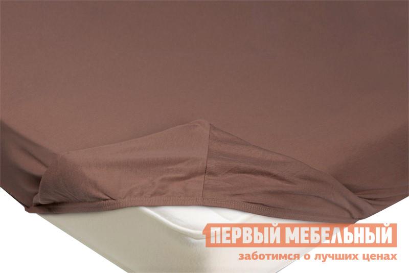 Простыня Простыня на резинке трикотажная Светло-коричневый, 900 Х 2000 Х 200 мм фото