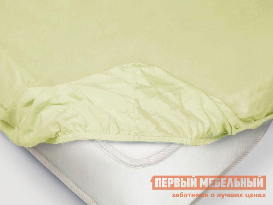 Простыня  Простыня на резинке «Поплин» ментоловый Ментоловый, поплин, 1400 Х 2000 Х 200 мм