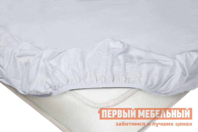 Простыня Простыня на резинке трикотажная Белый, 1800 Х 2000 Х 200 мм фото