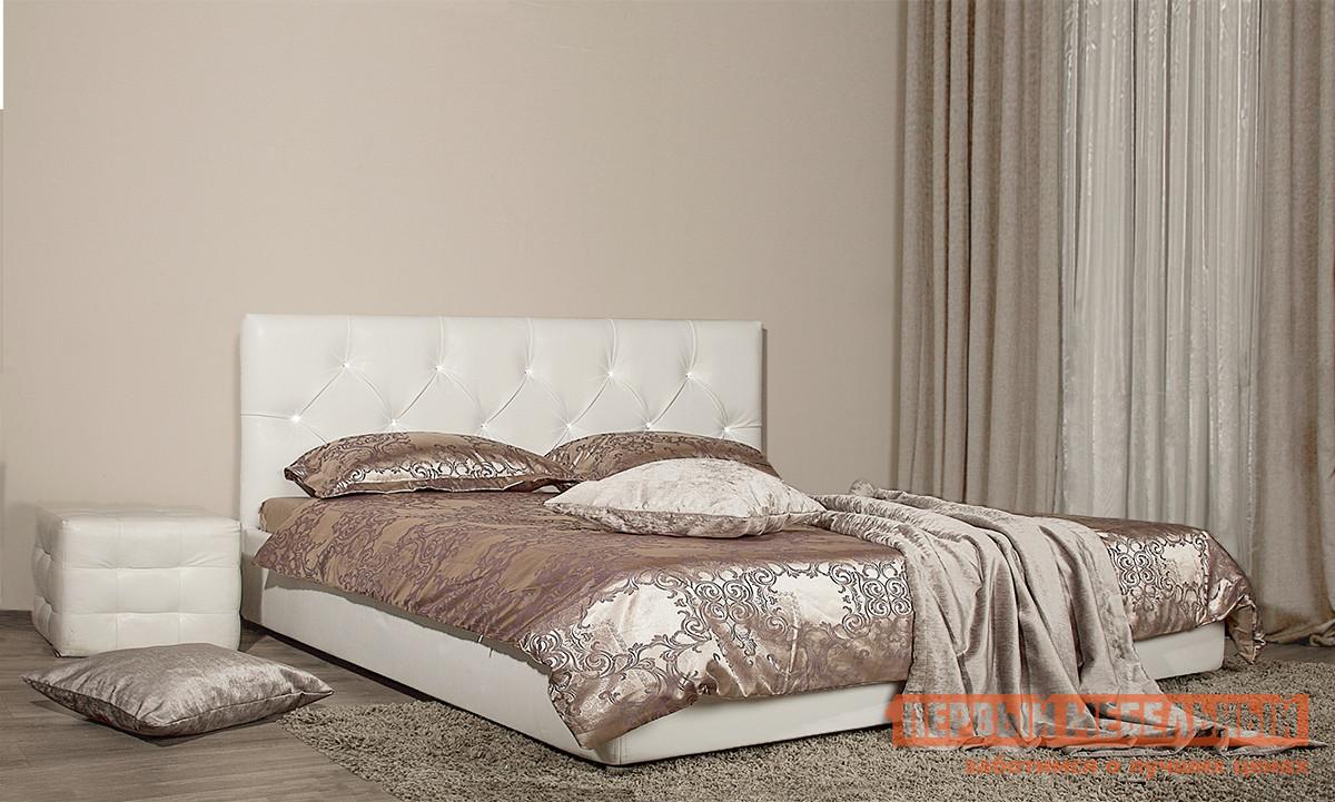 Полутороспальная кровать со стразами Первый Мебельный Кровать Хьюстон декор стразы 140х200 полутороспальная кровать первый мебельный кровать милана 140х200