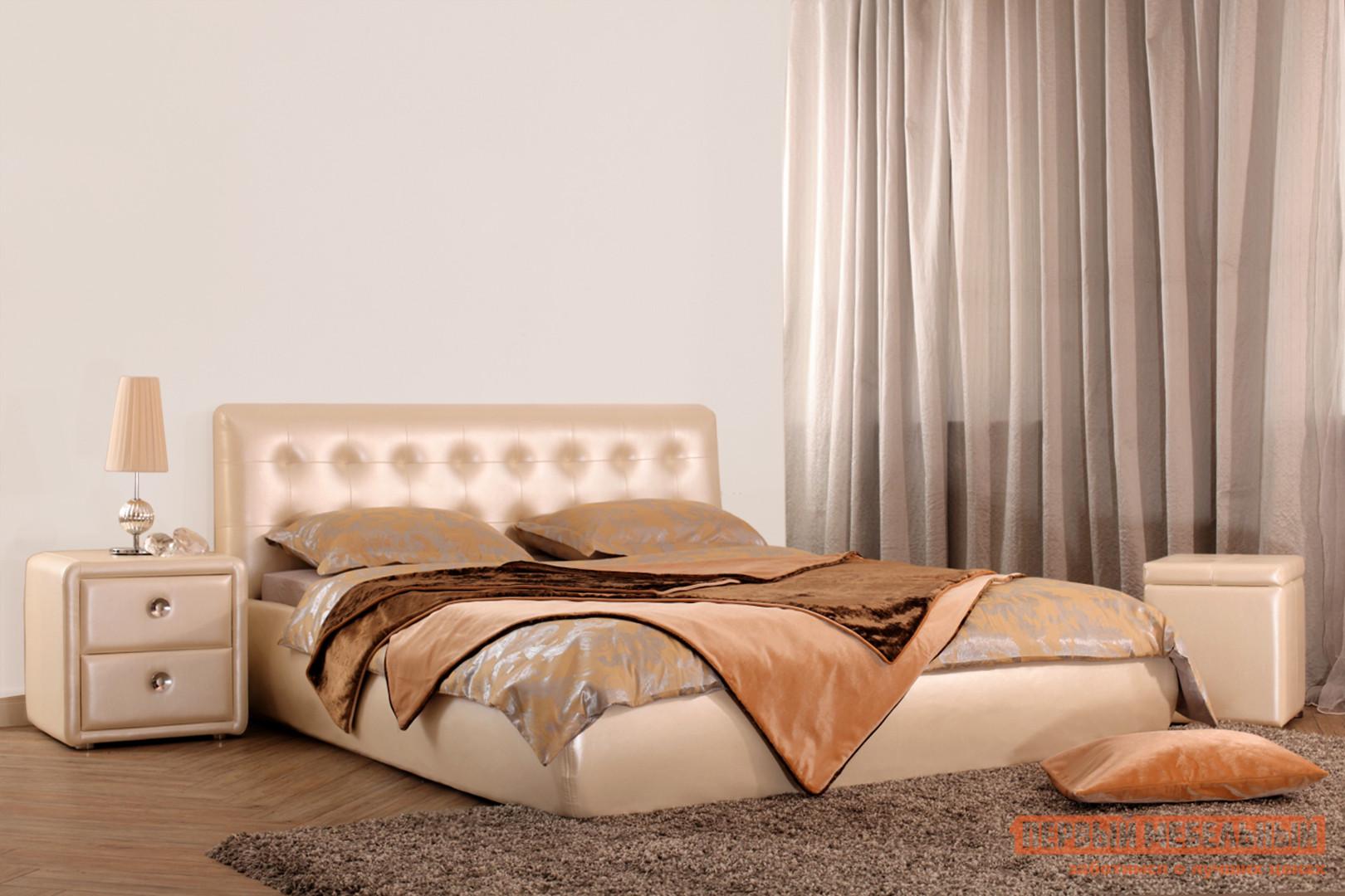 Полутороспальная кровать Первый Мебельный Кровать Омега 140х200 полутороспальная кровать первый мебельный кровать милана 140х200