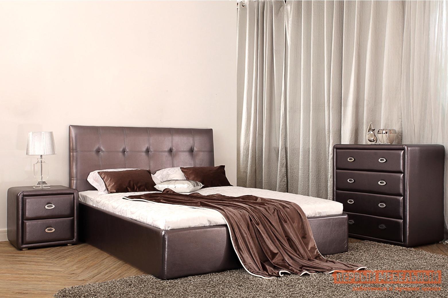 Полутороспальная кровать Первый Мебельный Кровать Айова 140х200 полутороспальная кровать первый мебельный кровать милана 140х200