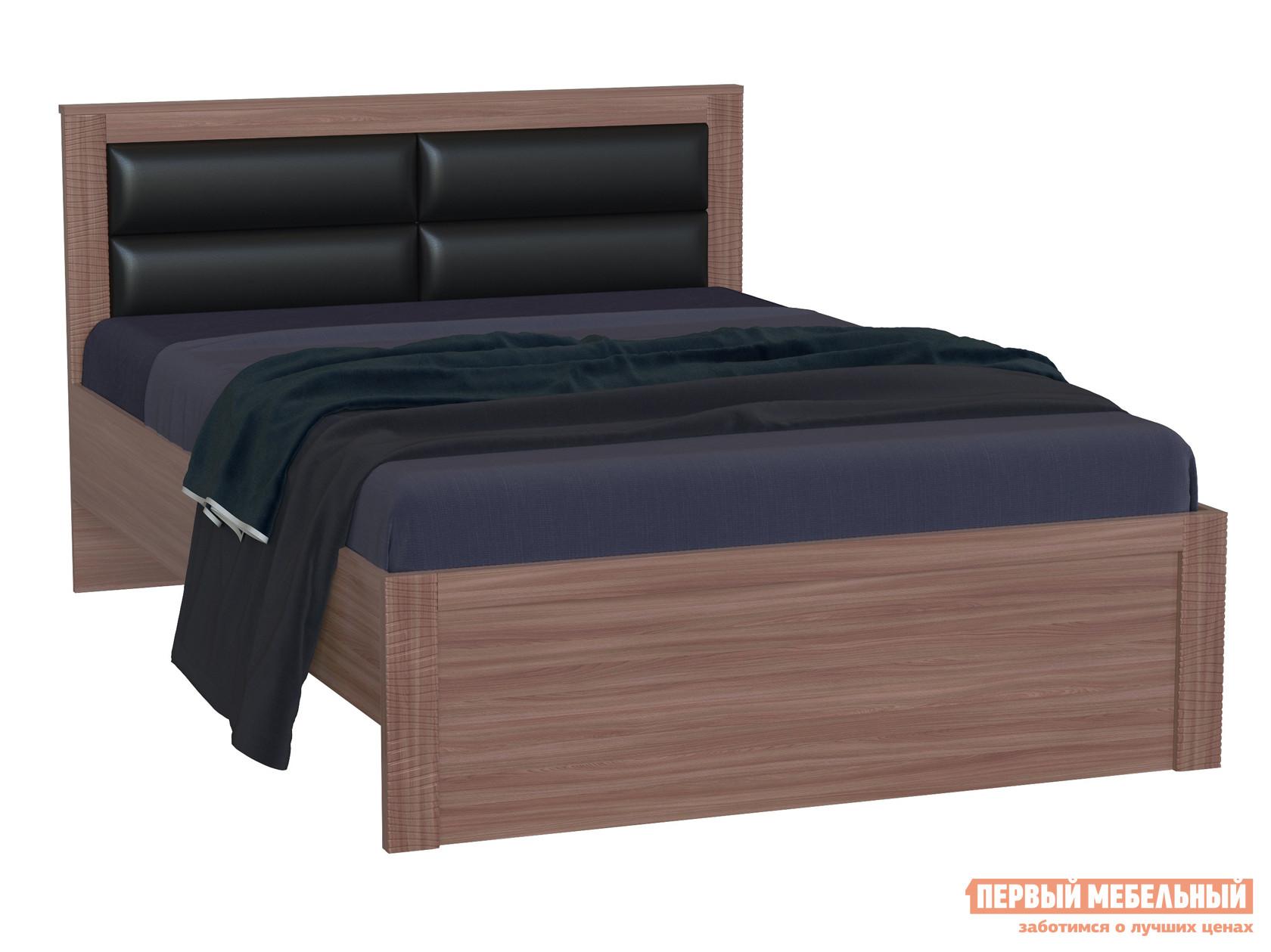 Полутороспальная кровать ПМ: РДМ Элегия с основанием настил Ясень Шимо темный
