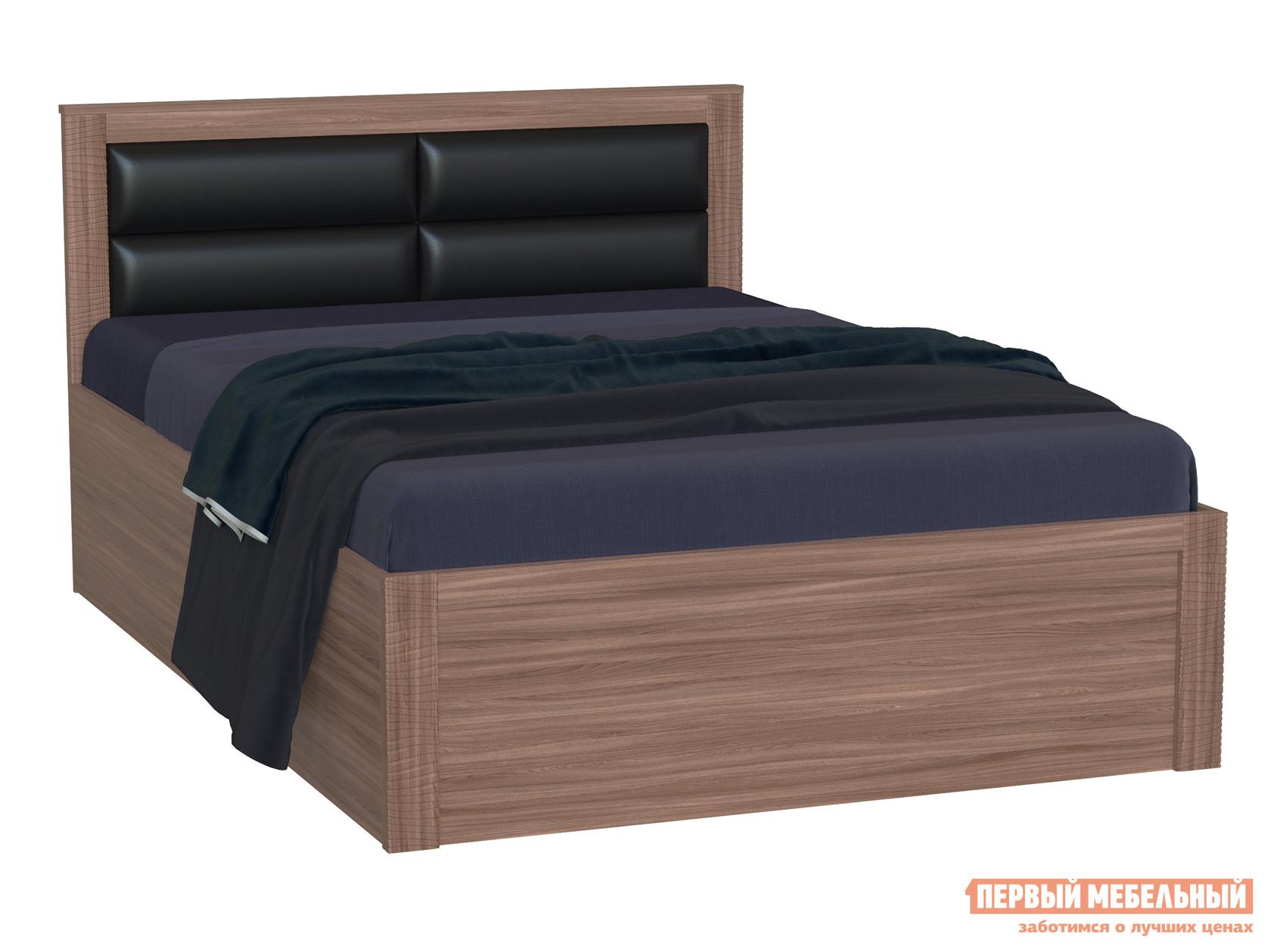 Полутороспальная кровать РДМ Элегия Ясень Шимо темный