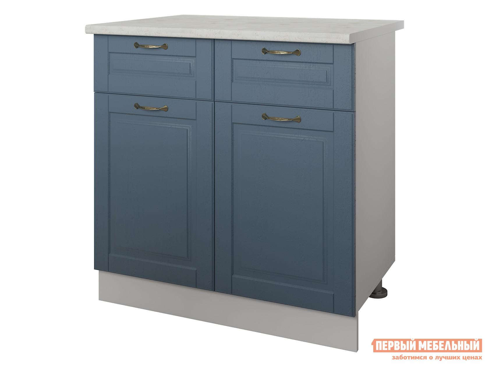 Кухонный модуль Первый Мебельный Стол 2 двери 2 ящика 80 см Палермо кухонный стол кубика портофино 2