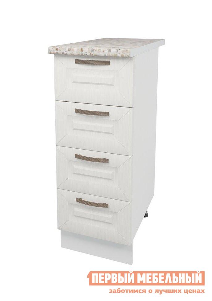 Кухонный модуль Первый Мебельный Стол 4 ящика 30 см Агава