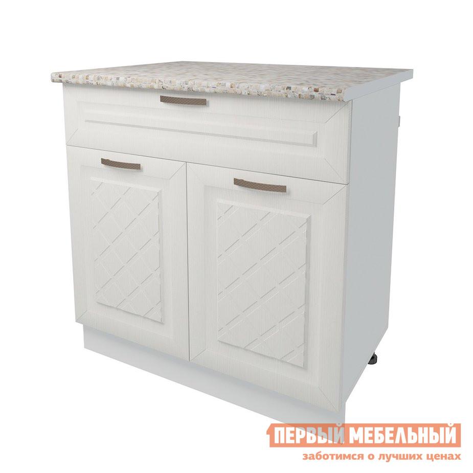 Кухонный модуль Первый Мебельный Стол 2 двери 1 ящик 80 см Агава кухонный модуль первый мебельный шкаф антресольный 2 двери 80 см агава