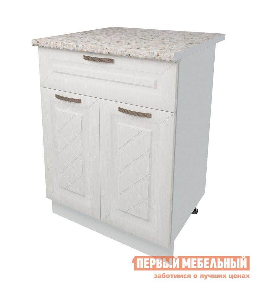 Кухонный модуль Первый Мебельный Стол 2 двери 1 ящик 60 см Агава кухонный модуль первый мебельный шкаф антресольный 2 двери 80 см агава