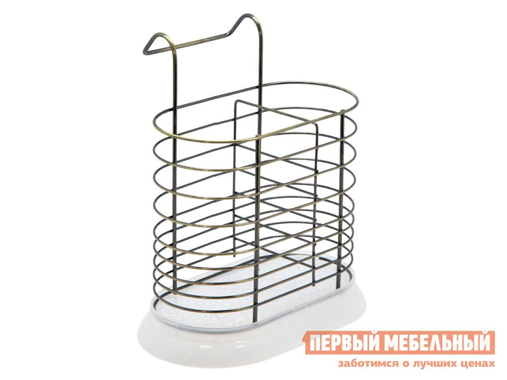 Кухонный органайзер  Тирген Античная бронза, металл / Белый, пластик Магамакс 134404