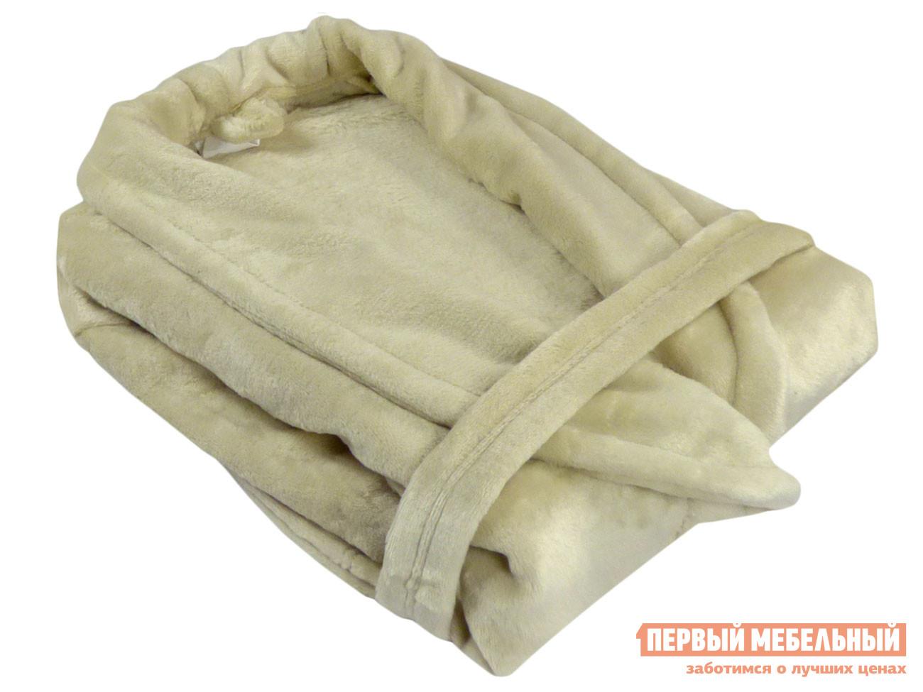 Женский халат Первый Мебельный Халат из микрофибры женский кремовый Бельвита