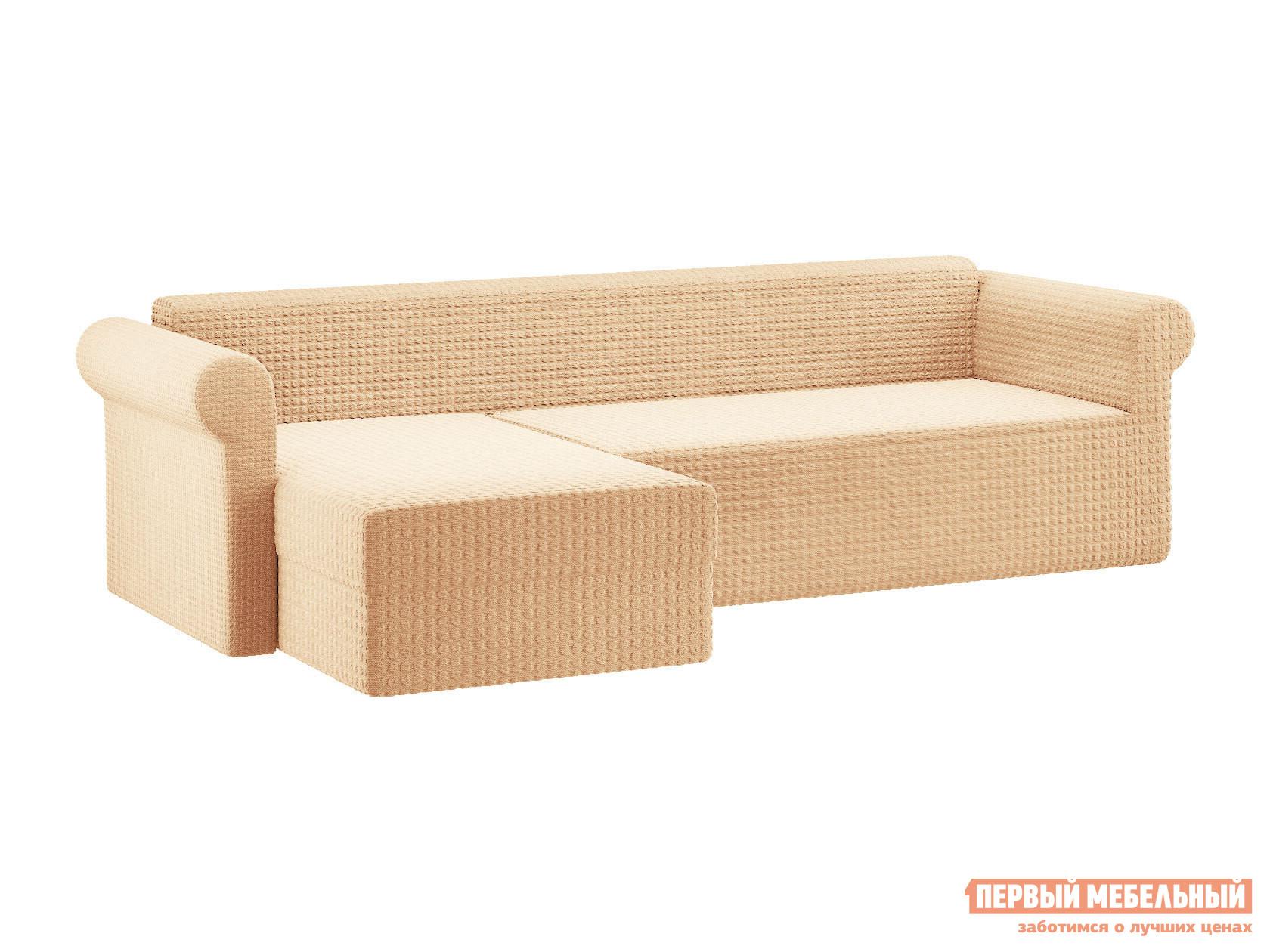 Фото - Чехол для углового дивана с оттоманкой Первый Мебельный Чехол на угловой диван с оттоманкой чехол для двухместного дивана первый мебельный чехол для дивана стамбул двухместный без юбки
