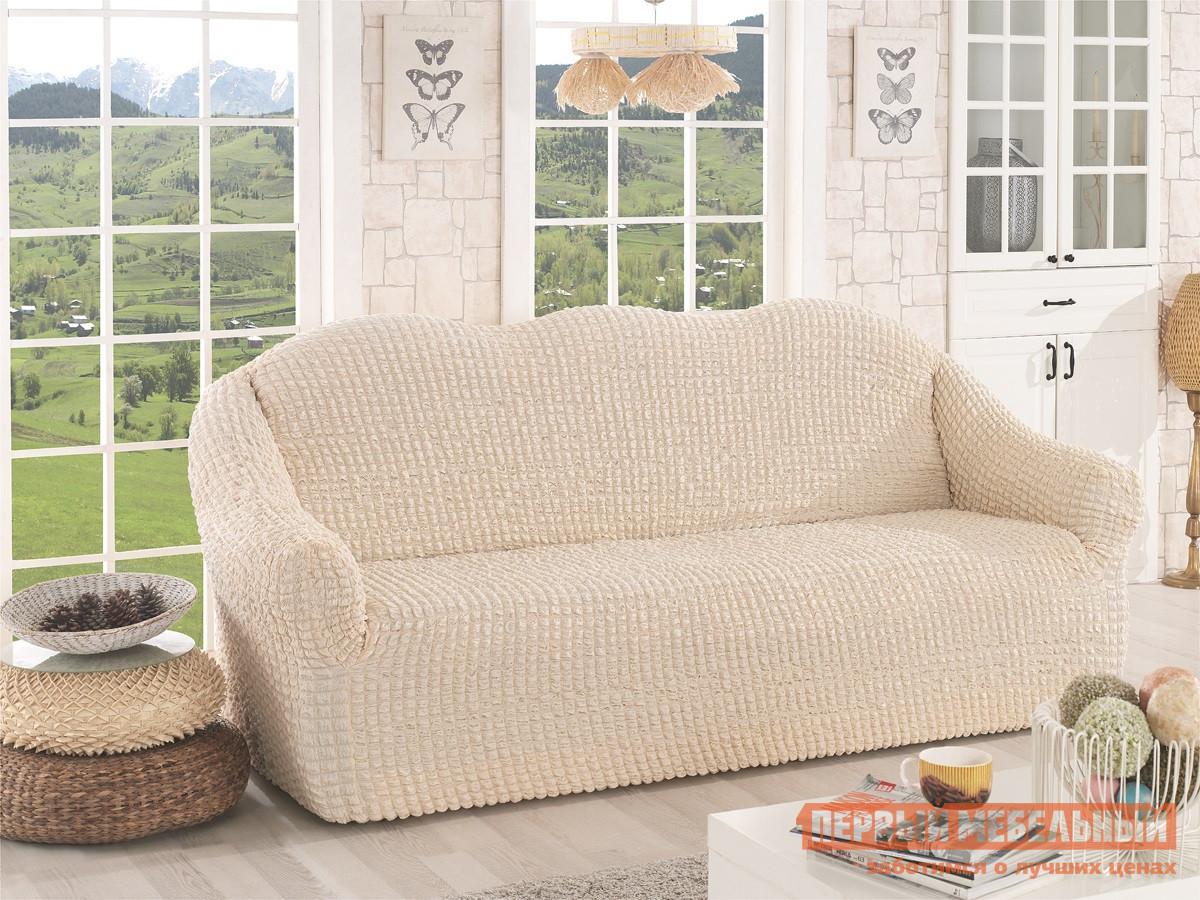 """Чехол для мебели  Чехол для дивана """"Стамбул"""" трехместный без юбки Кремовый — Чехол для дивана """"Стамбул"""" трехместный без юбки Кремовый"""