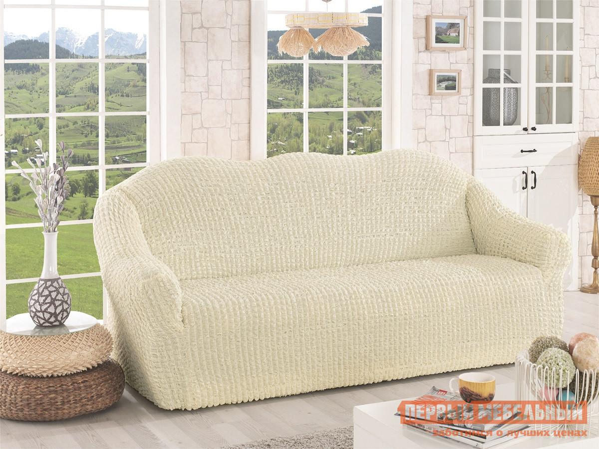 "Чехол для мебели  Чехол для дивана ""Стамбул"" трехместный без юбки Натурал — Чехол для дивана ""Стамбул"" трехместный без юбки Натурал"
