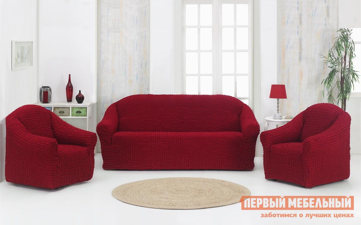 Набор чехлов Первый Мебельный Набор чехлов Стамбул диван + 2 кресла без юбки чехол для кресла первый мебельный чехол для кресла стамбул без юбки