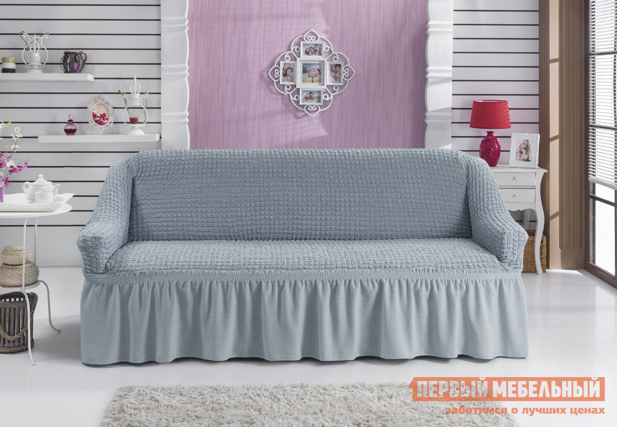 "Чехол для мебели  Чехол для дивана ""Стамбул"" двухместный Серый — Чехол для дивана ""Стамбул"" двухместный Серый"