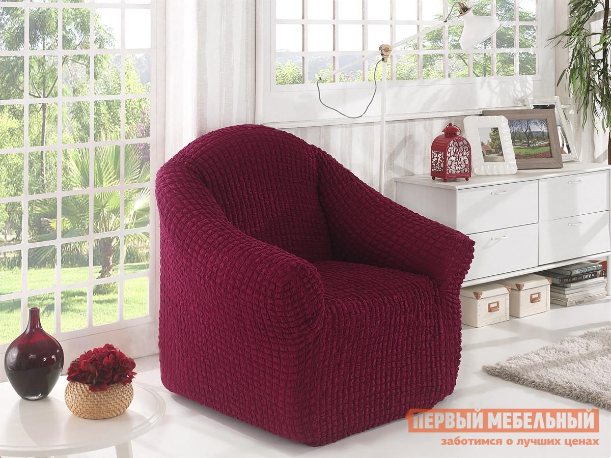 """Чехол для мебели  Чехол для кресла """"Стамбул"""" без юбки Бордовый"""