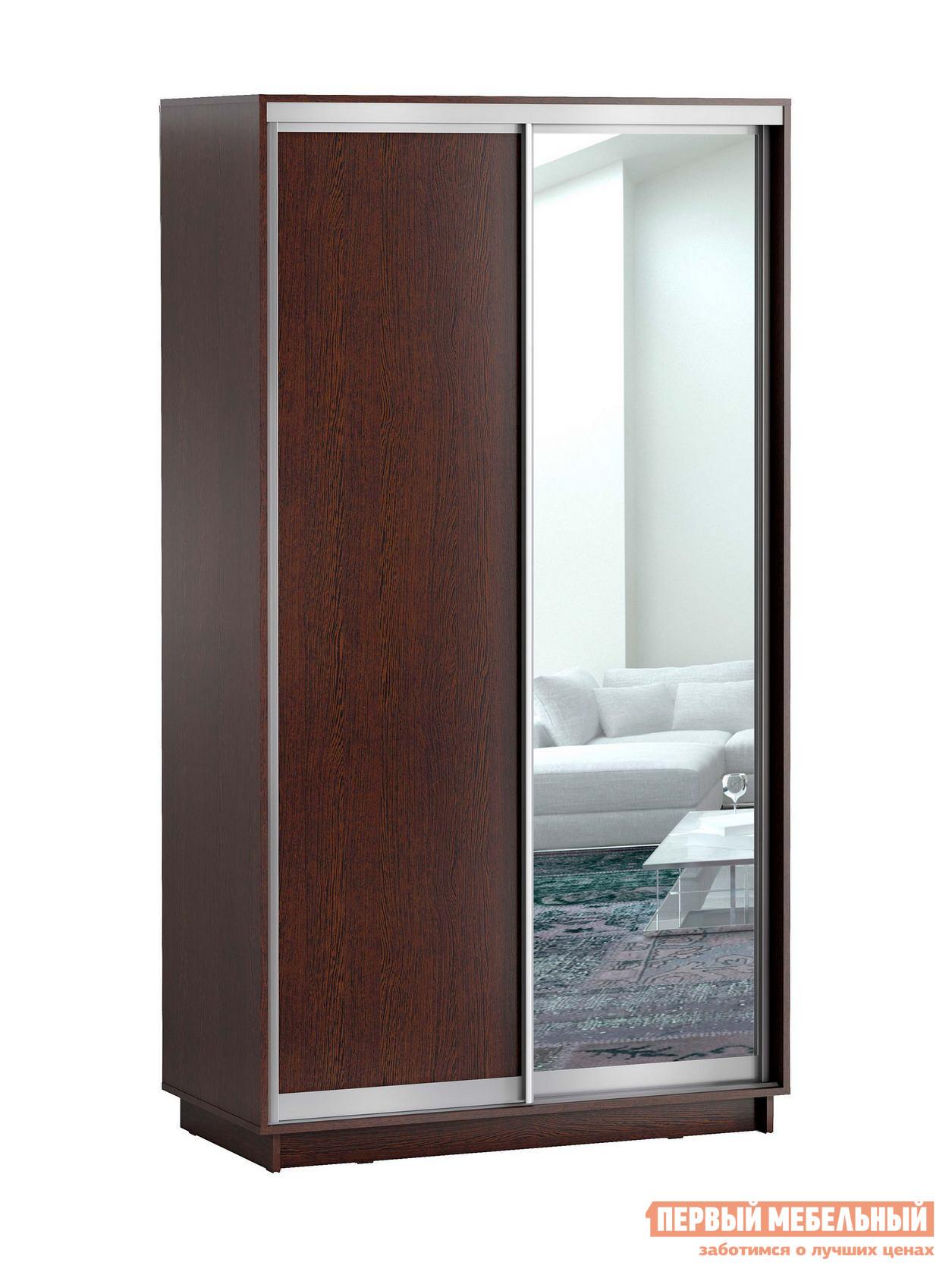 Шкаф-купе Первый Мебельный Шкаф купе Лео 2-х дверный с одним зеркалом шкаф распашной первый мебельный шкаф 2 х дверный с зеркалом венето