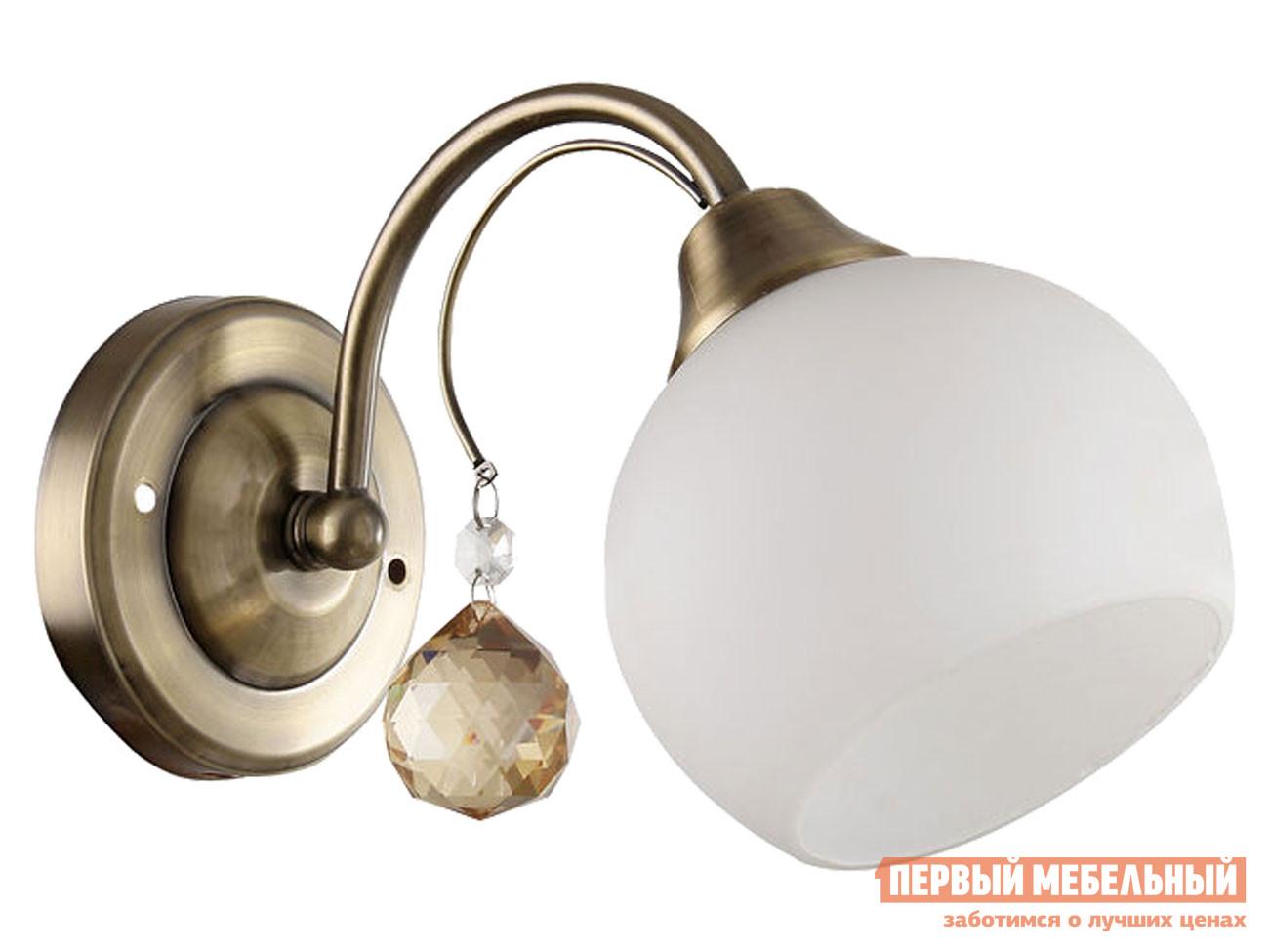 Бра  MD.11419-1-W AB 1*60Вт E27 Античная бронза / Белый Электросвет 124164
