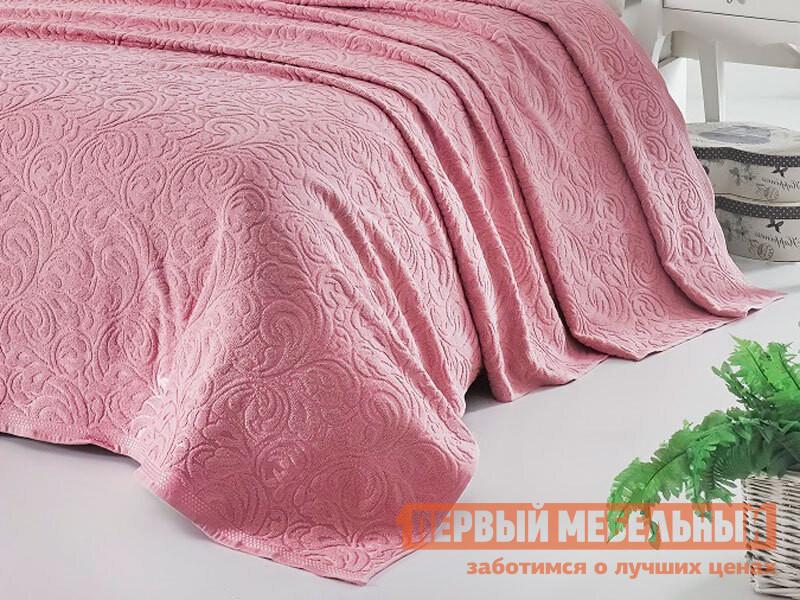 Покрывало Первый Мебельный Простынь махровая KARNA ESRA Розовый