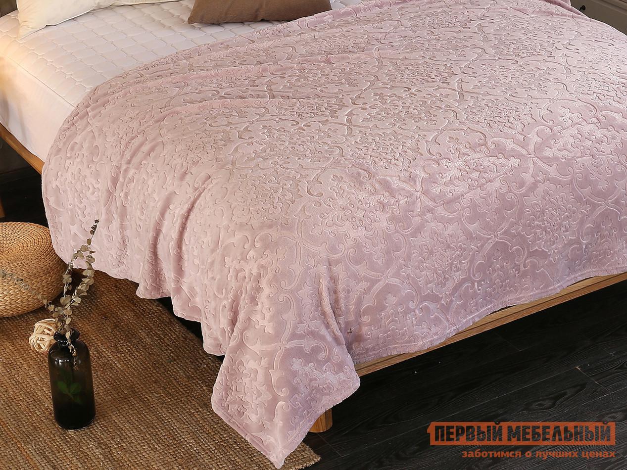 """Покрывало  Плед Cleo """"MORESKA"""" велсофт 016-OPM Бледно-розовый, 1500 Х 2000 мм"""