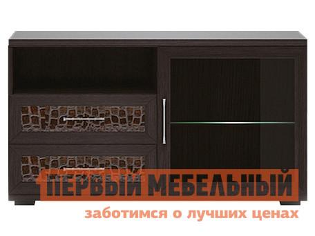 ТВ-тумба Первый Мебельный Тумба для аппаратуры высок. 1200 со стеклом Парма Люкс