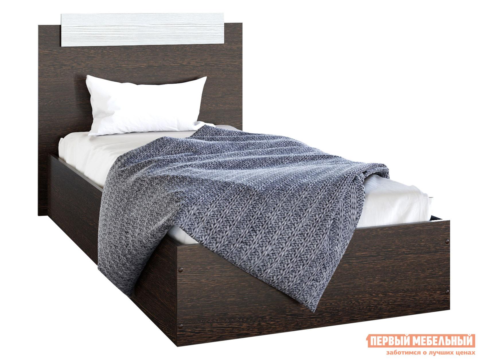 Односпальная кровать  Кровать Эко Венге / Лоредо, 900 Х 2000 мм — Кровать Эко Венге / Лоредо, 900 Х 2000 мм