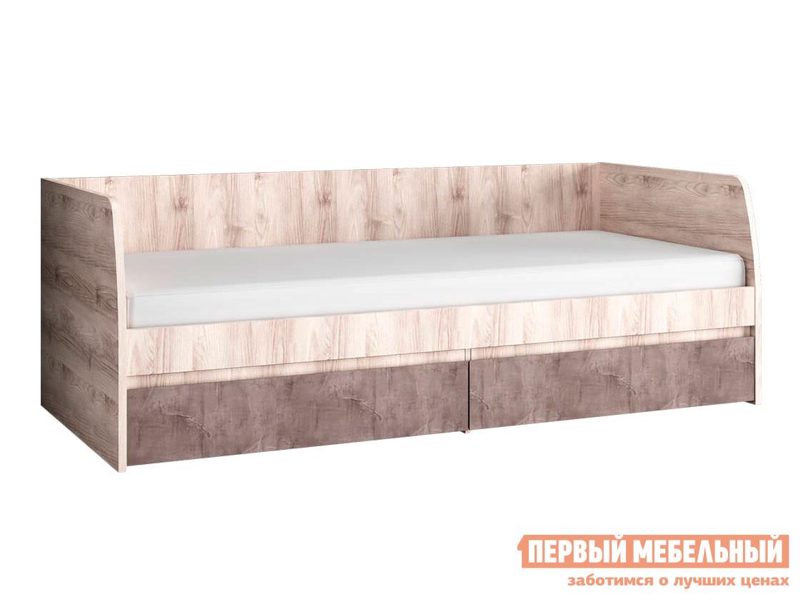 Односпальная кровать  Тахта Джаз 2 ящ Каштан Найроби / Оникс