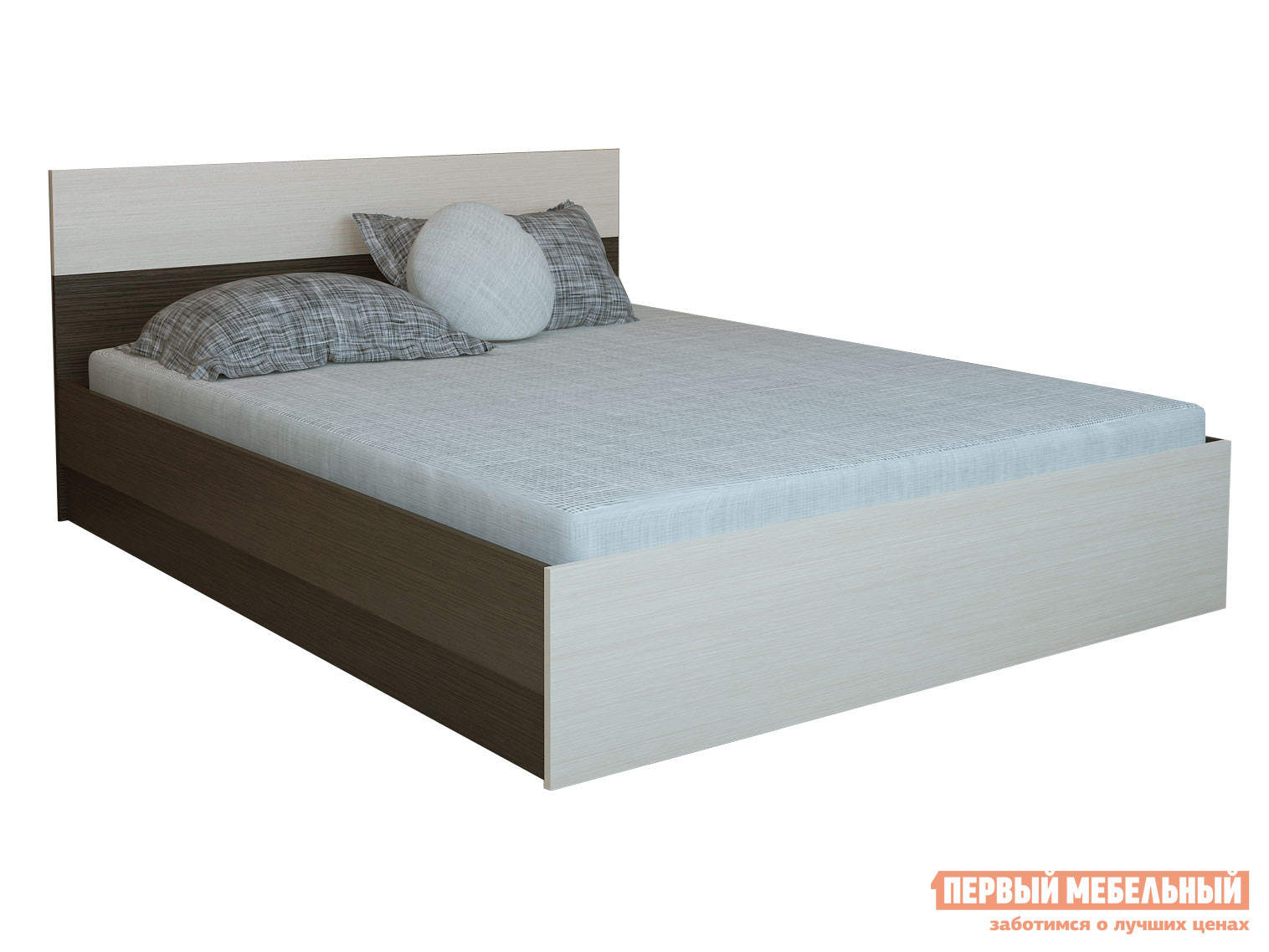 Односпальная кровать  Кровать Юнона Венге / Дуб, 800 Х 2000 мм — Кровать Юнона Венге / Дуб, 800 Х 2000 мм
