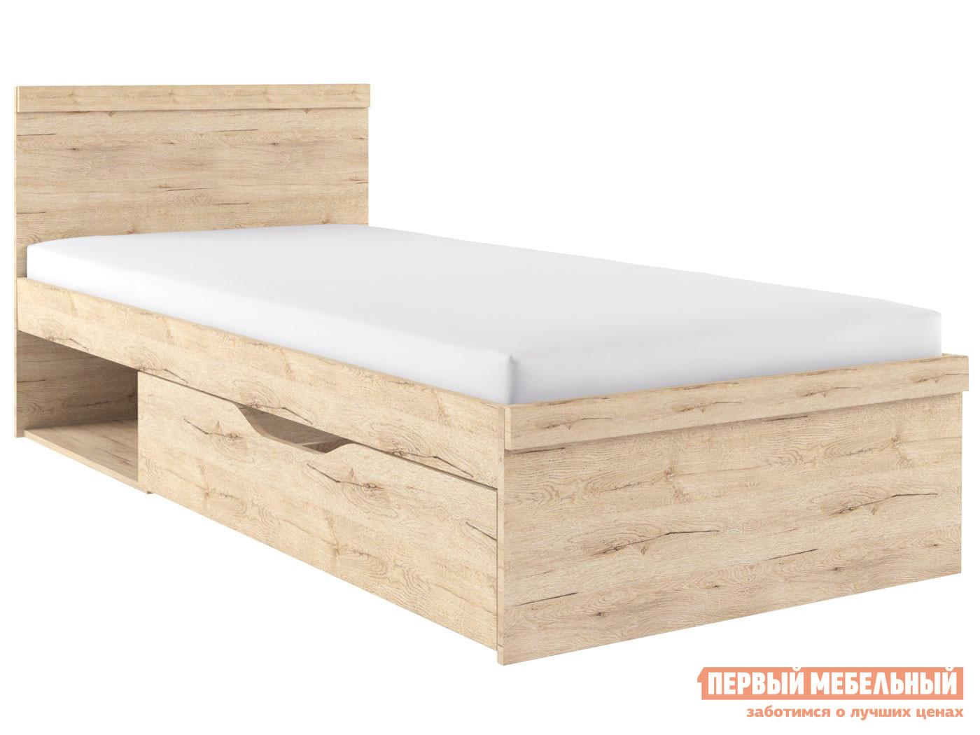 Односпальная кровать Первый Мебельный Кровать с ящиком Оскар односпальная кровать первый мебельный кровать молодежная оксфорд