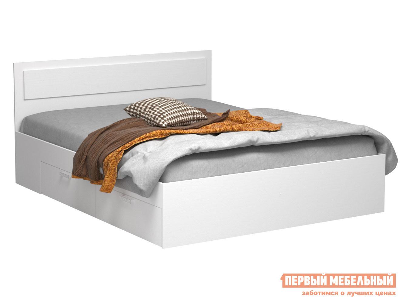 Односпальная кровать  Кровать Жаклин с ящиками Белый, 1200 Х 2000 мм — Кровать Жаклин с ящиками Белый, 1200 Х 2000 мм