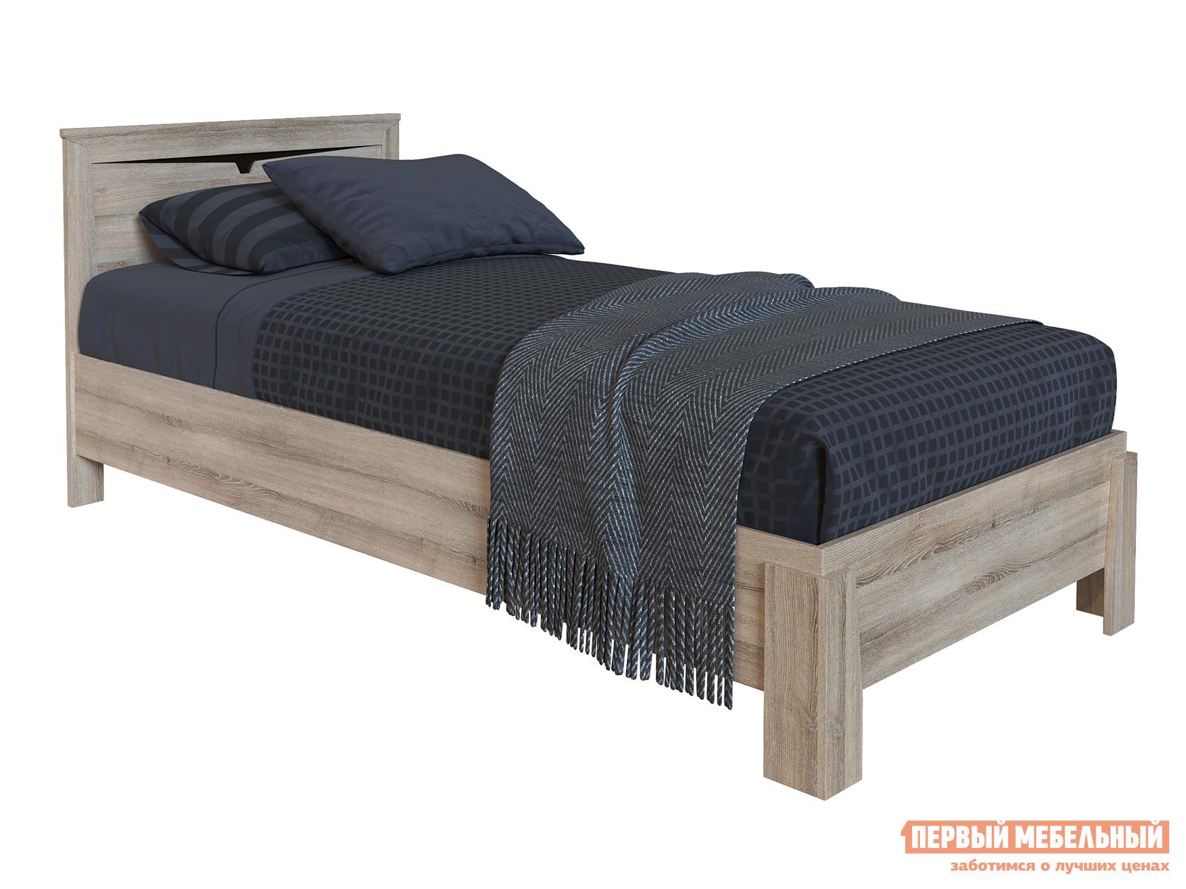 Односпальная кровать  Кровать Гарда NEW Ясень Таормино, Без основания