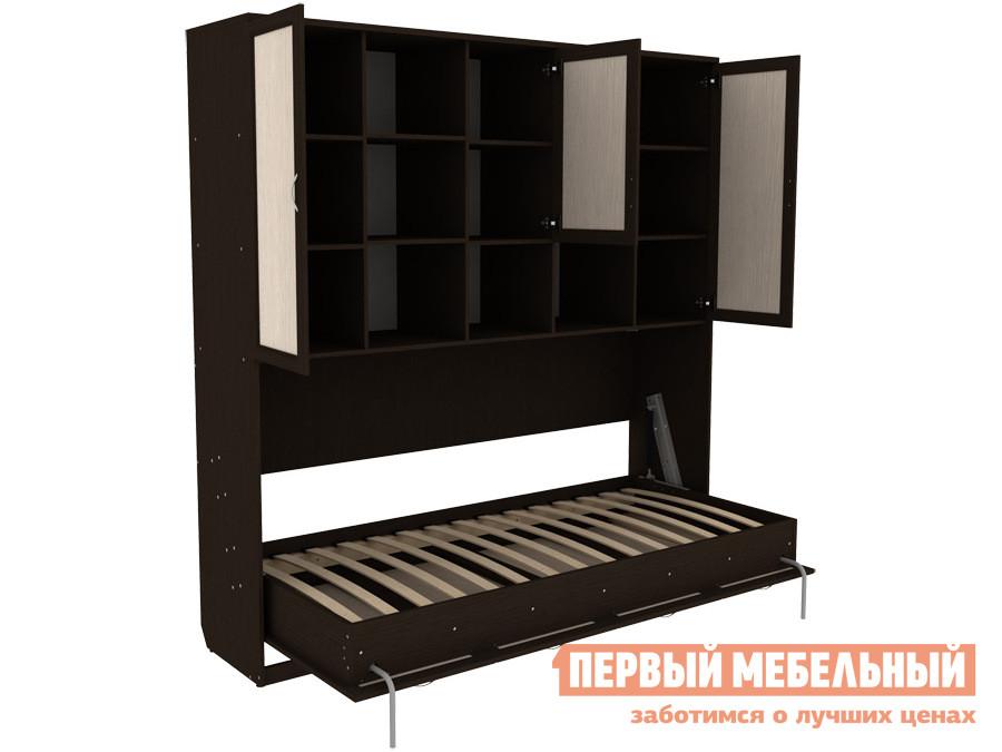 Односпальная кровать  Мерлен К03 Венге / Молочный дуб, 900 Х 2000 мм