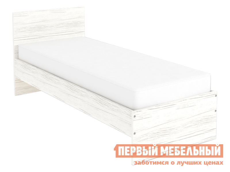 Односпальная кровать  Кровать Мерлен 800 Х 2000 мм, Арктика