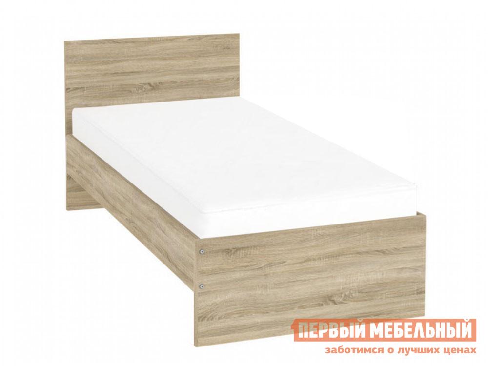 Односпальная кровать  Мерлен Дуб Сонома, 900 Х 2000 мм Уют сервис 73818