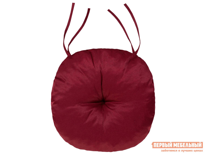Подушка-сидушка Первый Мебельный Подушка-сидушка Темп круглая с завязками с имитацией пуговиц / Сидушка круглая D=40 с имит.пуговиц, Темп