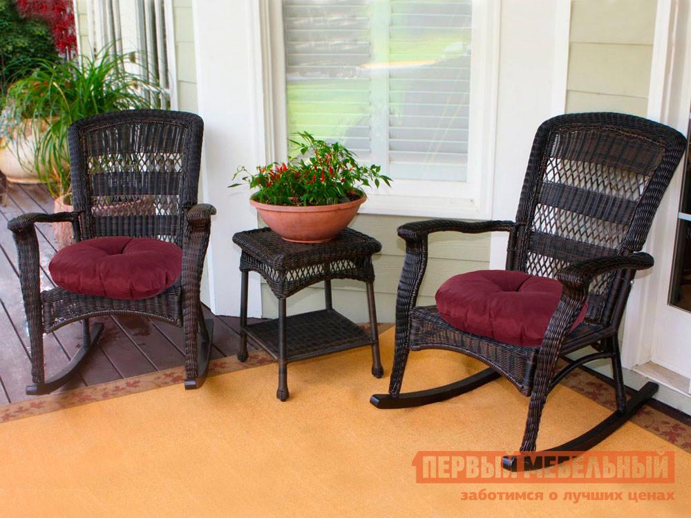 Декоративная подушка  Подушка-сидушка Темп круглая с завязками с имитацией пуговиц 4588, бордо