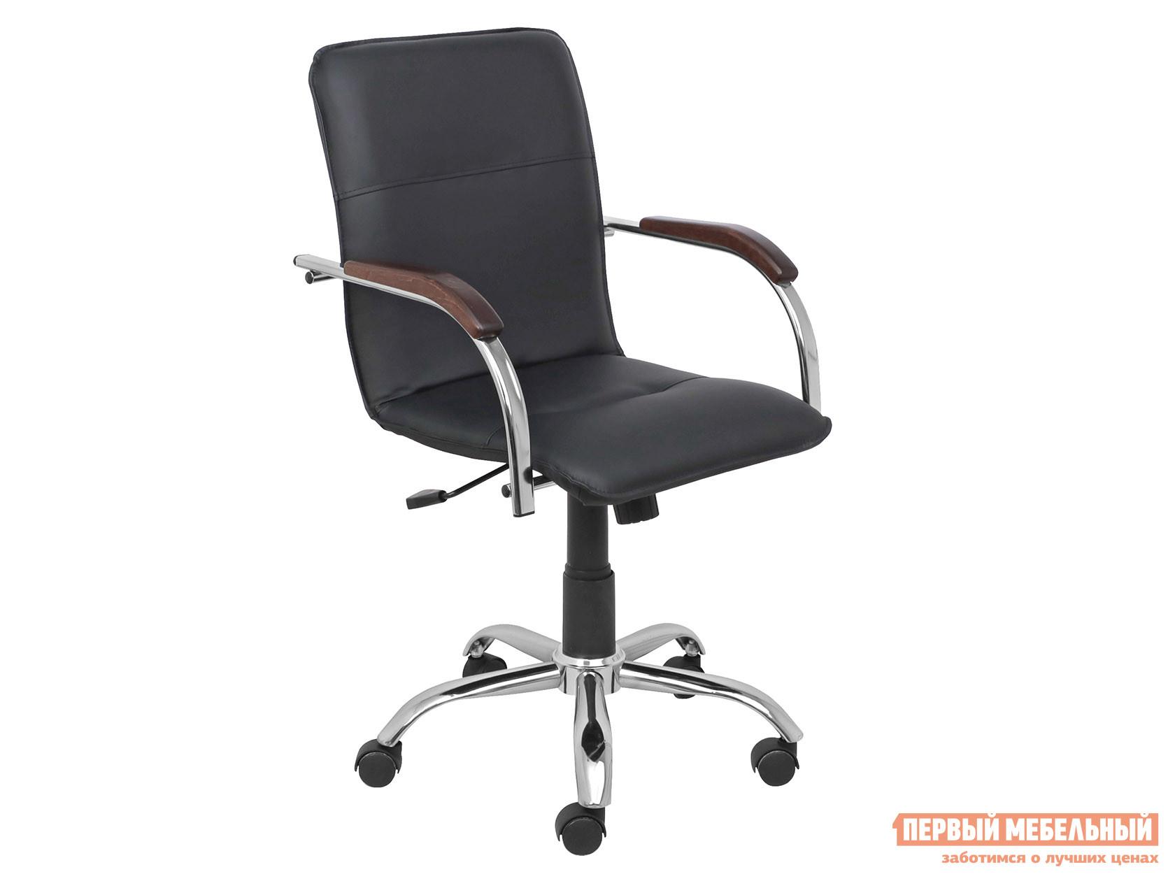 Офисное кресло  SAMBA AKS-2 Черный, экокожа, Деревянные Базистрейд 137644
