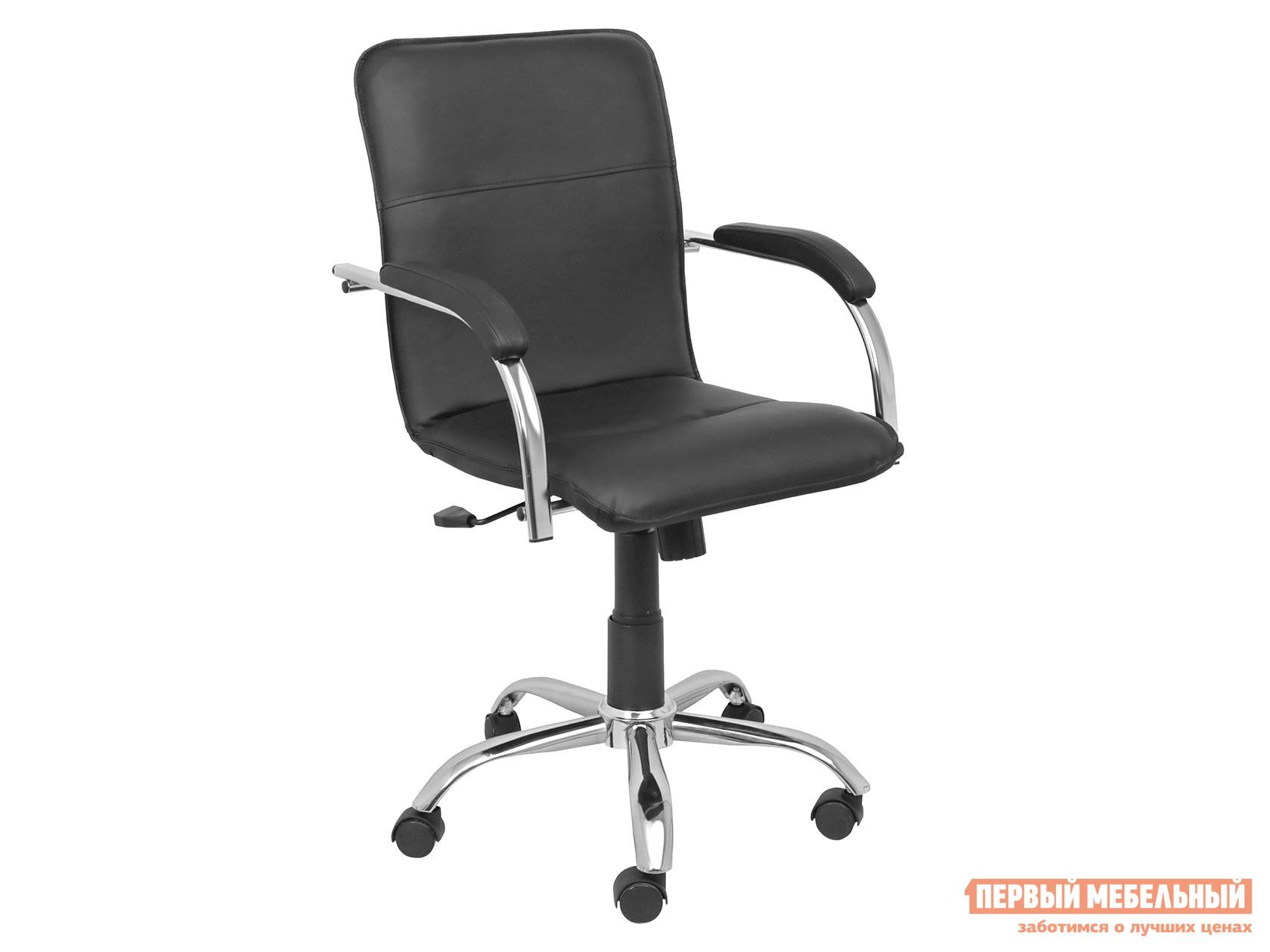 Офисное кресло  SAMBA AKS-2 Черный, экокожа, Мягкие Базистрейд 137645