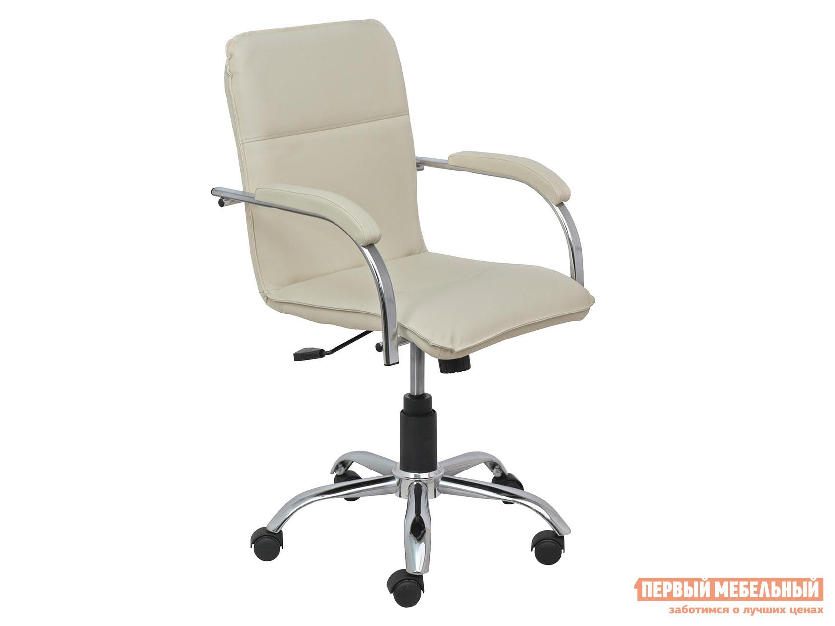 Офисное кресло  SAMBA AKS-2 Кремовый, экокожа, Мягкие Базистрейд 137641